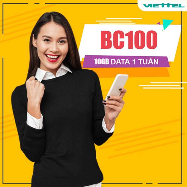Đăng ký gói BC100 Viettel nhận ngay 10GB xài cả tuần chỉ 100.000đ
