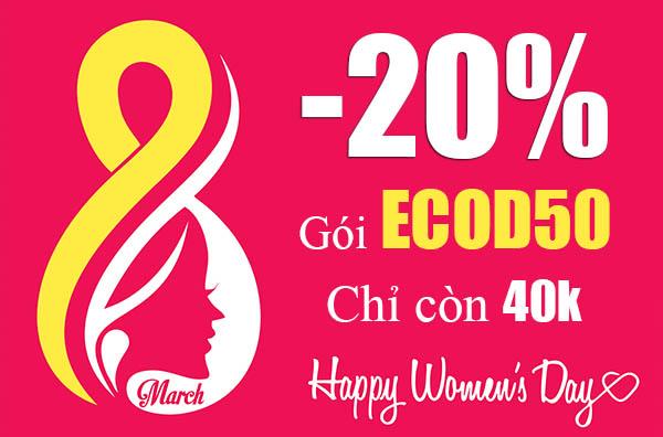 Mừng 08/03 Viettel giảm giá 20% khi đăng ký gói ECOD50 có 3GB