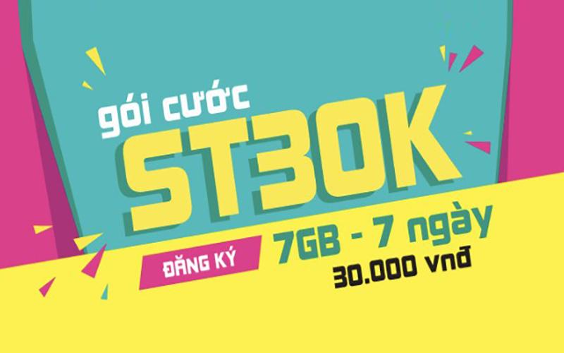 Data thả ga cùng gói ST30k mới nhất của Viettel