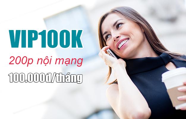 Gói VIP100k Viettel ưu đãi 200 phút nội mạng chỉ 100.000đ