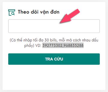 Nhập vào mã vận đơn Viettel Post cần theo dõi