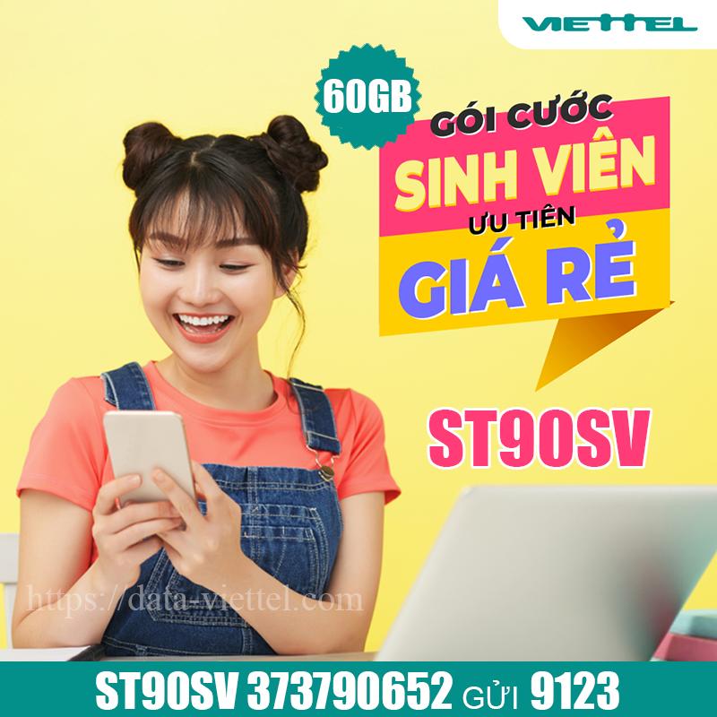 Đăng ký gói ST90SV Viettel bằng tin nhắn dễ dàng có 60GB / tháng