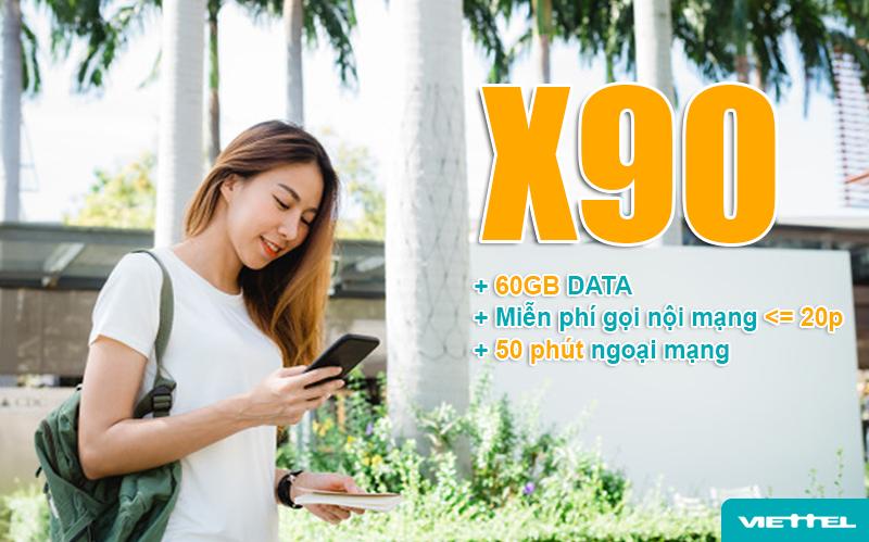 Gói X90 Viettel ưu đãi khủng cho khách hàng theo tỉnh