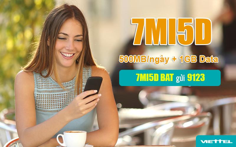 Đăng ký gói 7MI5D Viettel nhận ưu đãi dễ dàng bằng tin nhắn