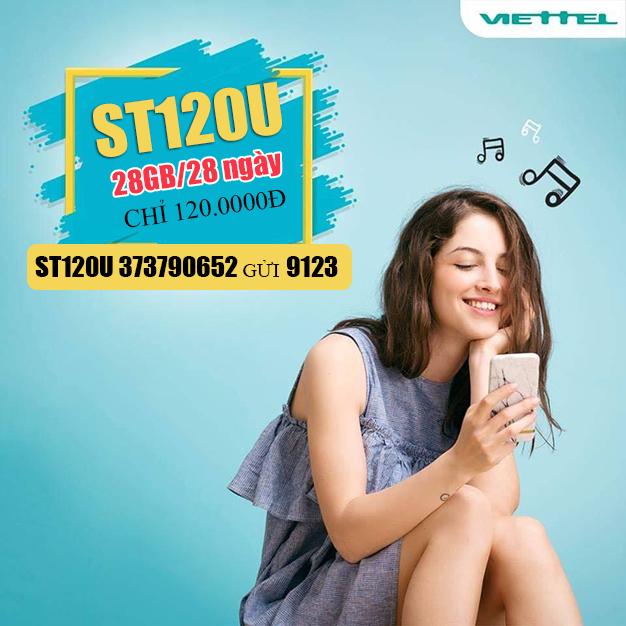 Đăng ký gói ST120U Viettel truy cập internet thả ga