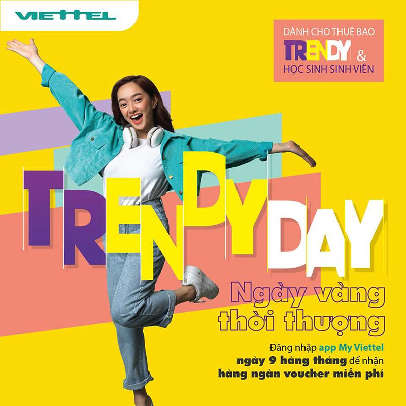 Trendy Day, thuê bao Trendy có cơ hội nhận hàng ngàn voucher miễn phí