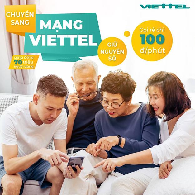 Chuyển mạng giữ số sang Viettel sử dụng nhiều dịch vụ ưu đãi hấp dẫn