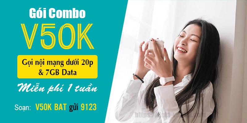 Đăng ký gói V50K Viettel dễ dàng nhận ngay ưu đãi 7GB & miễn phí gọi nội mạng dưới 20 phút/ tuần