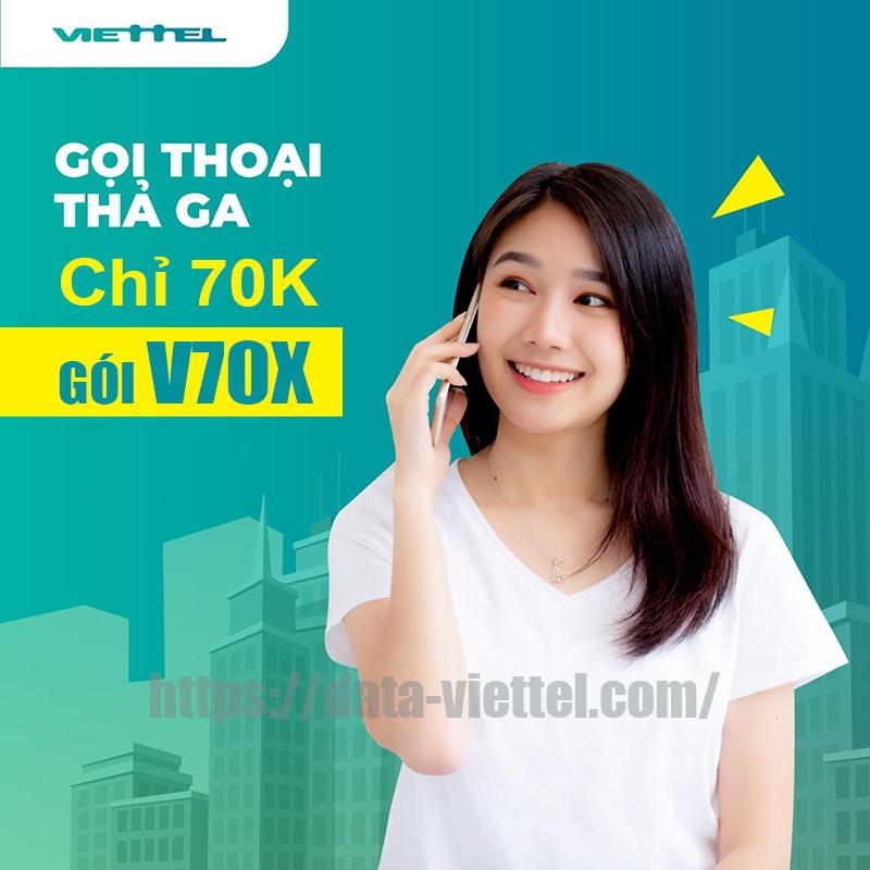 Gọi nội mạng thả ga suốt tháng chỉ 70k cùng V70X Viettel