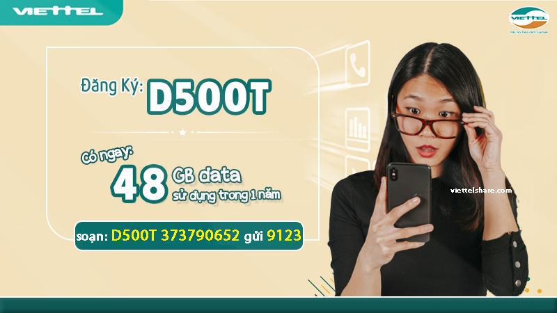 Đăng ký D500T Viettel đơn giản hơn bao giờ hết.