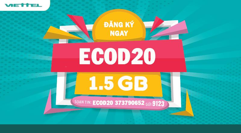 Đăng ký ECOD20 để nhận được ưu đãi Data hấp dẫn