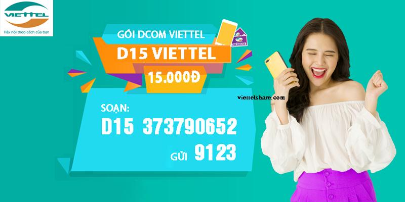 Đăng ký D15 Viettel nhận ưu đãi 5Gb trong ngày tha hồ lên mạng làm việc và giải trí