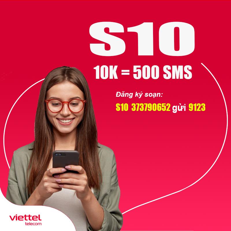 Cách Đăng Ký 500 Tin Nhắn Viettel Nội Mạng Chỉ 10.000đ - S10 Viettel