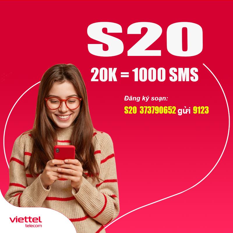 Cách Đăng Ký 1000 Tin Nhắn Viettel Giá 20.000đ/Tháng - S20 Viettel