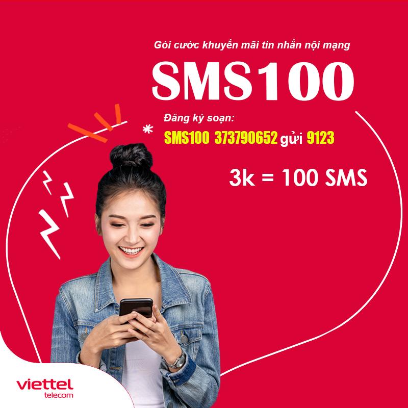 Cách Đăng Ký 100 Tin Nhắn Viettel Giá Rẻ 3.000đ/24h - SMS100 Viettel