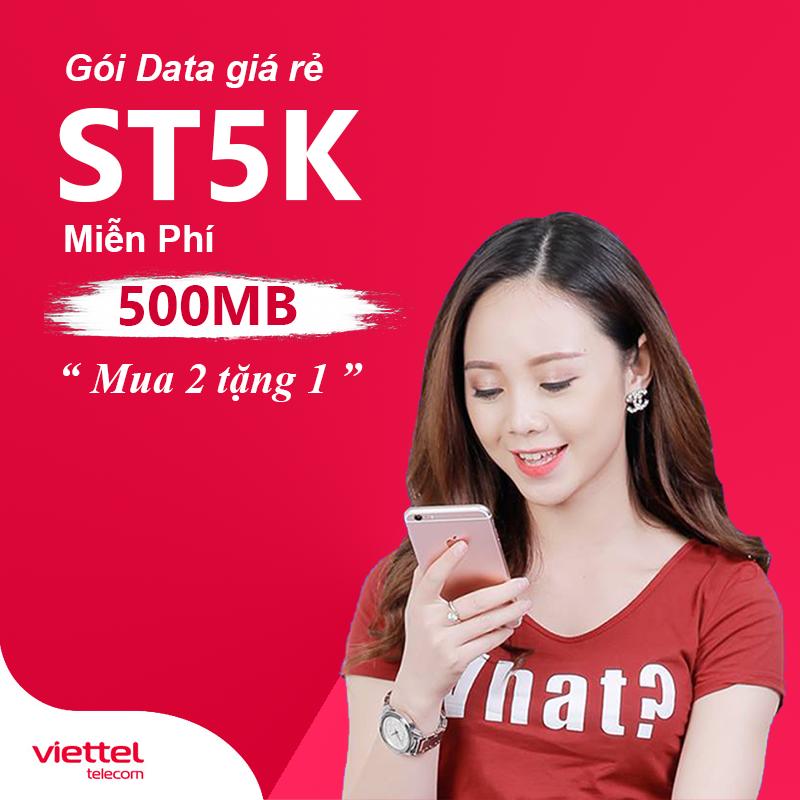 """Cách đăng ký mạng Viettel 5k 1 ngày 500MB Data – """"Mua 2 tặng 1"""""""