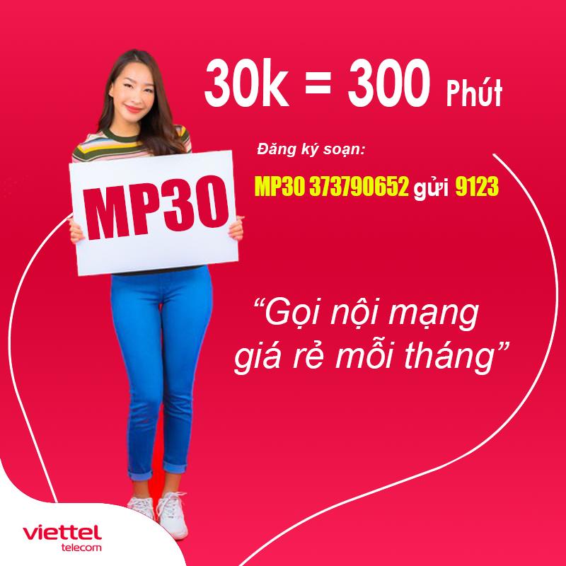 Đăng Ký Gói MP30 Viettel Km 300 Phút Gọi Nội Mạng Chỉ 30.000đ