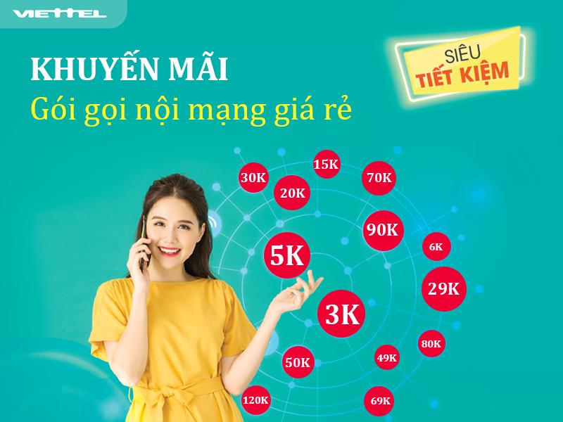 Cách đăng ký gọi nội mạng Viettel giá rẻ 5k,10k, 20k, 30k, 50k mới 2021