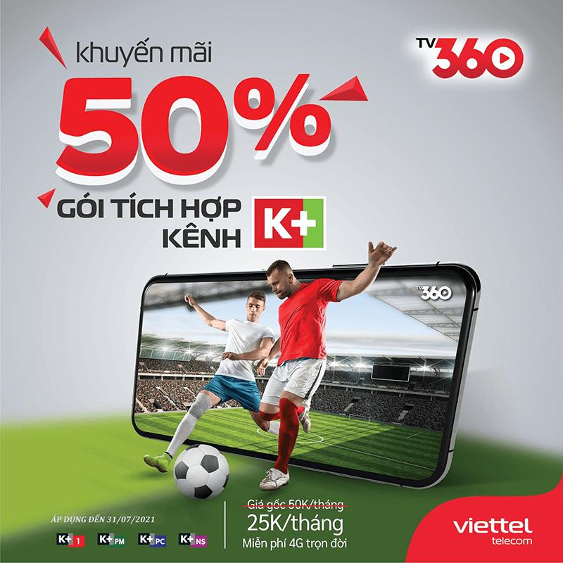 TV360 Viettel -  Xem TV trực tuyến, xem K+ thả ga trên di động